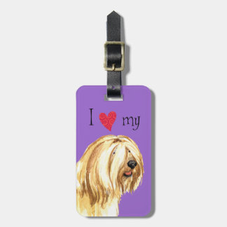 I Love my Tibetan Terrier Luggage Tag