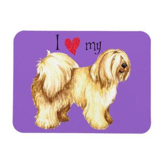 I Love my Tibetan Terrier Magnet