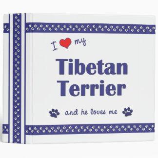 I Love My Tibetan Terrier (Male Dog) 3 Ring Binder