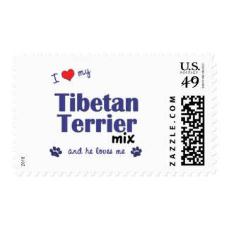 I Love My Tibetan Terrier Mix (Male Dog) Stamps