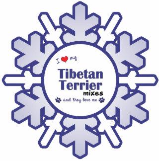I Love My Tibetan Terrier Mixes (Multiple Dogs) Photo Sculpture Ornament