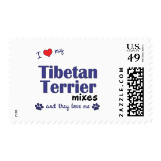 I Love My Tibetan Terrier Mixes (Multiple Dogs) Stamps