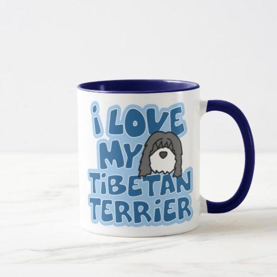 I Love My Tibetan Terrier Mug