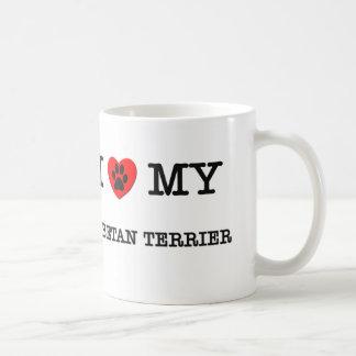 I LOVE MY TIBETAN TERRIER COFFEE MUG