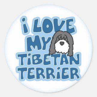 I Love My Tibetan Terrier Stickers