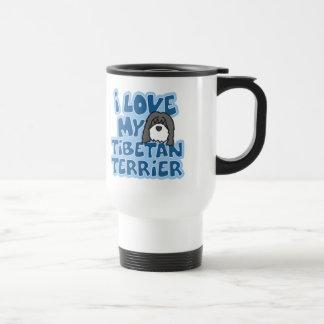 I Love My Tibetan Terrier Travel Mug