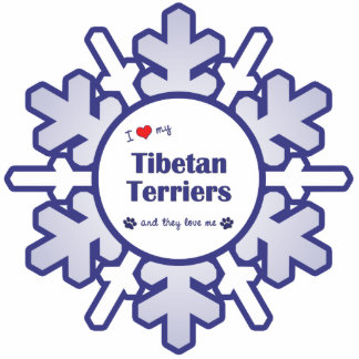 I Love My Tibetan Terriers (Multiple Dogs) Photo Sculpture Ornament