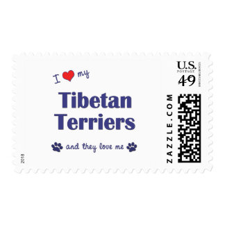 I Love My Tibetan Terriers (Multiple Dogs) Postage Stamps