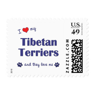 I Love My Tibetan Terriers (Multiple Dogs) Stamp