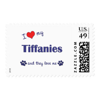 I Love My Tiffanies (Multiple Cats) Stamps