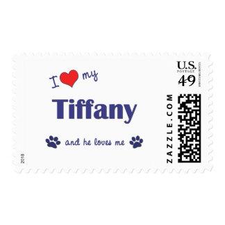 I Love My Tiffany (Male Cat) Postage Stamp