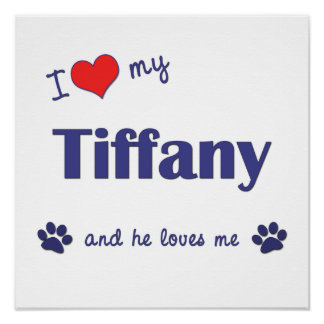 I Love My Tiffany (Male Cat) Poster