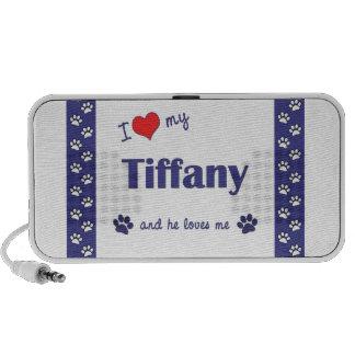 I Love My Tiffany (Male Cat) Laptop Speakers