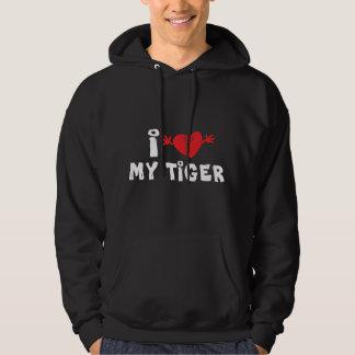 I Love My Tiger Black T-Shirt