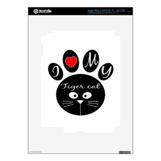 i love my Tiger cat. iPad 3 Skins