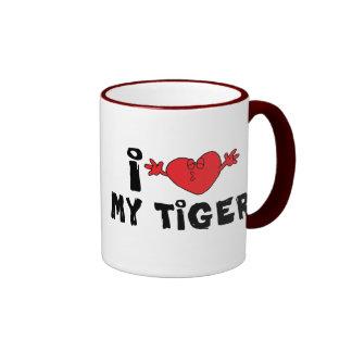 I Love My Tiger Ringer Mug