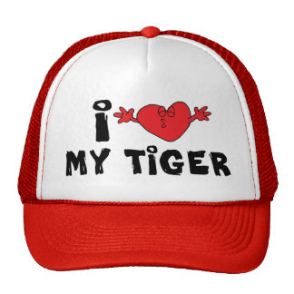 I Love My Tiger Trucker Hat