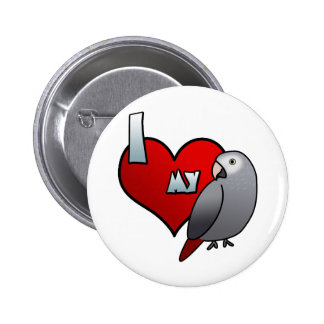 I Love my Timneh African Grey Button