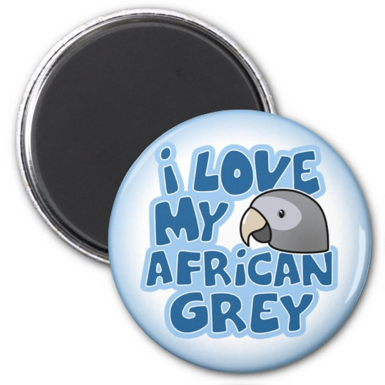 I Love My Timneh African Grey Magnet