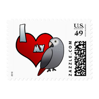 I Love my Timneh African Grey Stamps