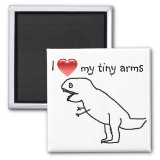 I love my tiny arms/T-REX 2 Inch Square Magnet