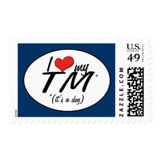 I Love My TM (It's a Dog) Postage Stamp