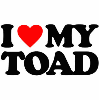 I LOVE MY TOAD CUT OUTS