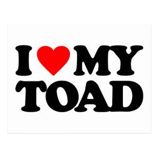 I LOVE MY TOAD POSTCARD