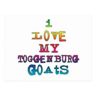 I Love My Toggenburg Goats Postcard