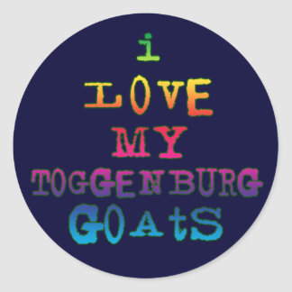 I Love My Toggenburg Goats Stickers