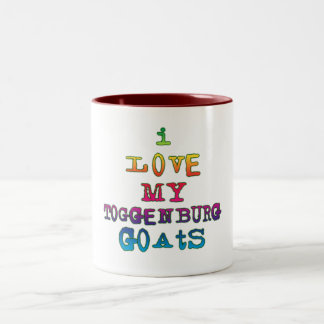 I Love My Toggenburg Goats Two-Tone Coffee Mug