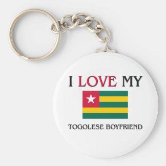 I Love My Togolese Boyfriend Basic Round Button Keychain