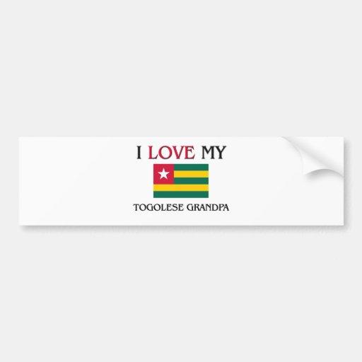 I Love My Togolese Grandpa Bumper Stickers