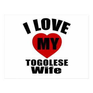I LOVE MY TOGOLESE WIFE POSTCARD
