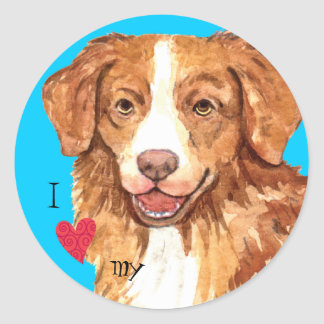 I Love my Toller Classic Round Sticker