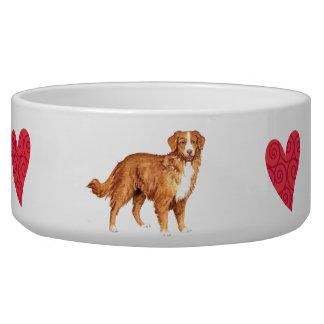 I Love my Toller Dog Bowls