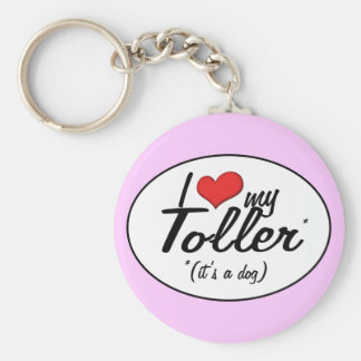 I Love My Toller (It's a Dog) Keychain