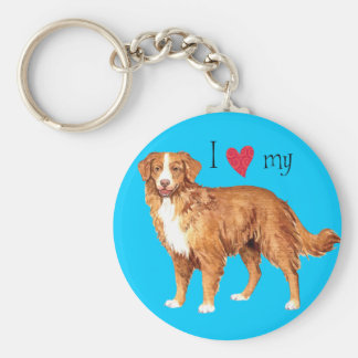 I Love my Toller Keychain