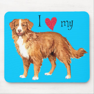 I Love my Toller Mouse Pad