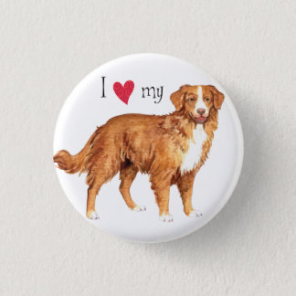 I Love my Toller Pinback Button