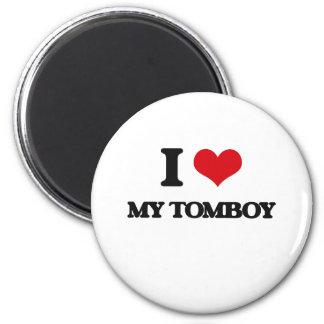 I love My Tomboy 2 Inch Round Magnet