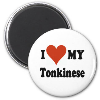 I Love My Tonkinese Cat 2 Inch Round Magnet