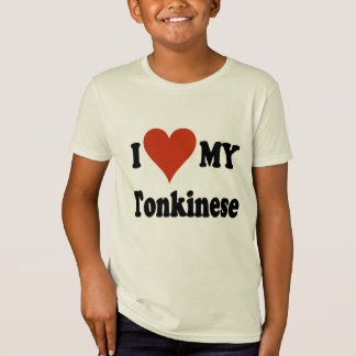 I Love My Tonkinese Cat Gifts and Apparel T-Shirt