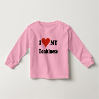 I Love My Tonkinese Cat Gifts and Apparel Toddler T-shirt