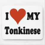 I Love My Tonkinese Cat Mouse Mats