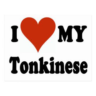 I Love My Tonkinese Cat Postcard