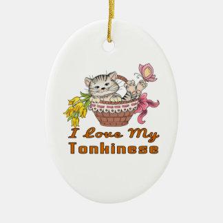 I Love My Tonkinese Ceramic Ornament
