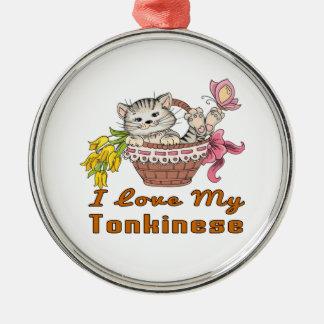 I Love My Tonkinese Metal Ornament