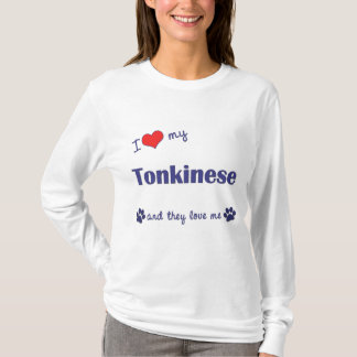 I Love My Tonkinese (Multiple Cats) T-Shirt