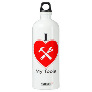I love my tools aluminum water bottle